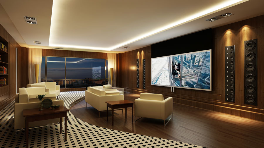 Home Theatre, Lounge & Library