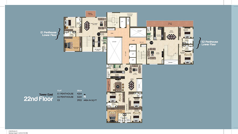Tower East 22th Floor Plan