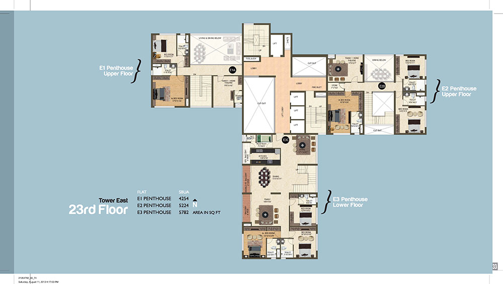 Tower East 23th Floor Plan