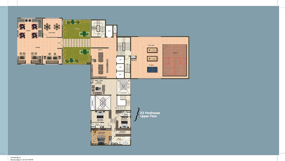 Tower East 25th Floor Plan