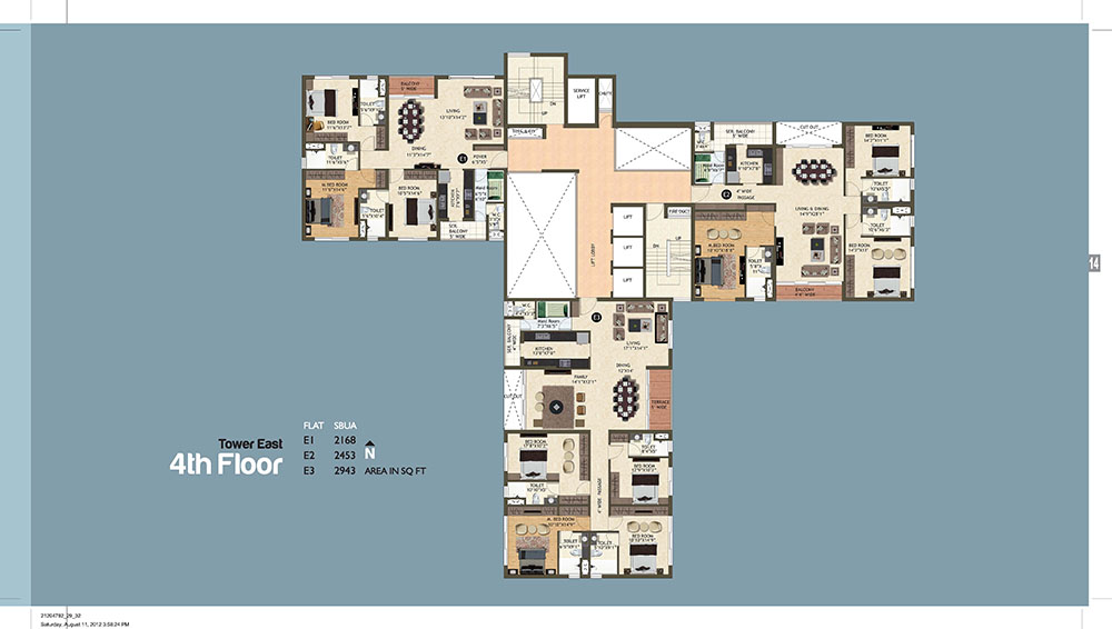 Tower East 4th Floor Plan
