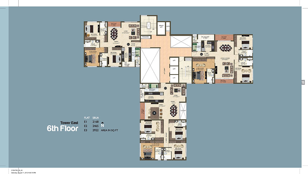 Tower East 6th Floor Plan