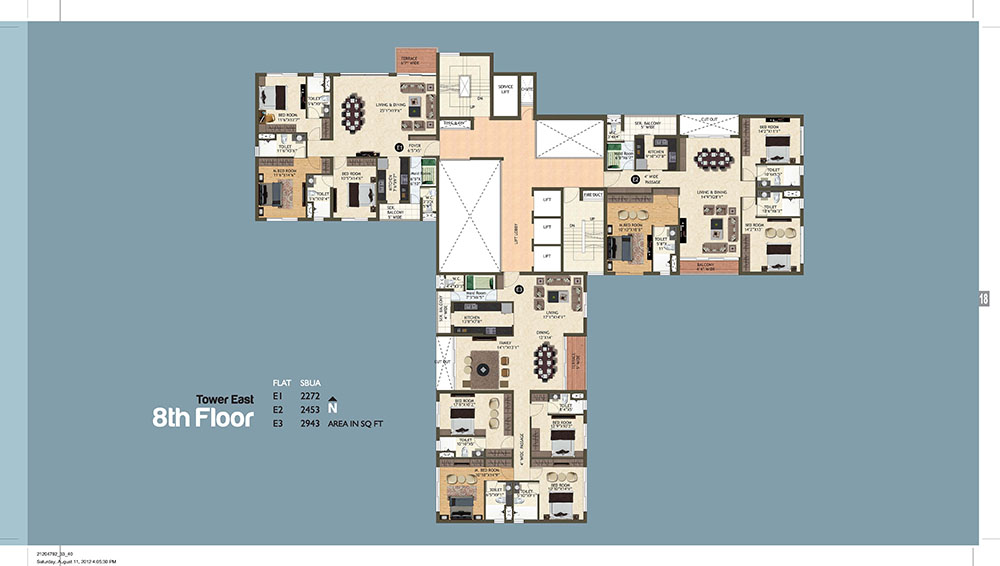 Tower East 8th Floor Plan
