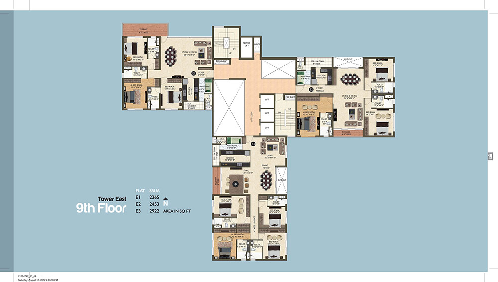 Tower East 9th Floor Plan