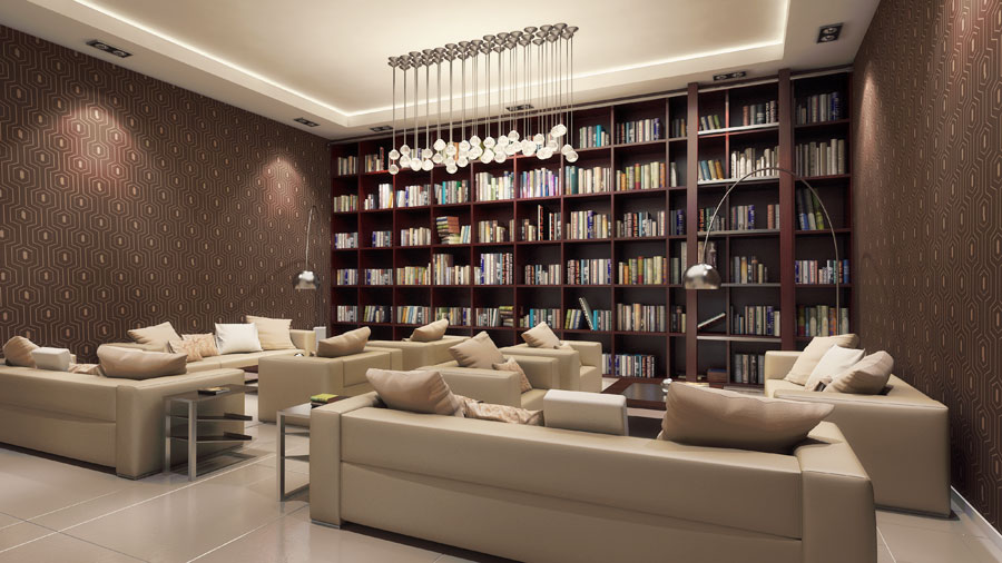 Lounge Library Room